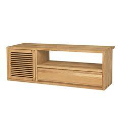 Banc TV en chêne massif Chêne Naturel - Aronde - Les meubles télé - Les meubles et accessoires tv - Salon et salle à manger - Décoration d'intérieur - Alinéa
