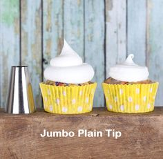 Jumbo Plain Frosting Tip - Most popular tip for quickly frosting cupcakes!