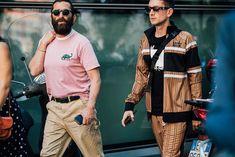 Street style à la Fashion Week homme printemps-été 2018 à Milan