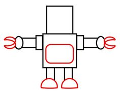 How to draw a cartoon robot - Dozens of how-to-draws for kids