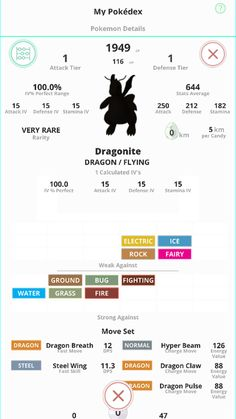 Field Guide for Pokémon GO - My Pokédex Track all of your Pokémon, everything in the full Pokédex and including IVs. Sorting also includes all sorting in the full Pokédex, and also includes IV sorting. You can power up your Pokémon to keep them current and refine your IV ratings. #pokemongo #pokemon