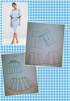 Sewing - Make Your Own Clothes - Sewing Method Pattern Cutting, Pattern Making, Blouse Patterns, Clothing Patterns, Sewing Clothes, Diy Clothes, Craft Patterns, Sewing Patterns, Modelista