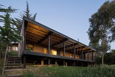 Studio Selva's hands-on experience reveals a new side of architecture - News - Mark Magazine Bauhaus, Chile, Raised House, Low Cost Housing, House On Stilts, Modern Architects, Box Houses, Surfer, Forest House