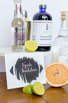 How about a fresh and fizzy cocktail to watch your next football game? Tequila Touchdown Photography: Annie Randall Photography | Concept & Styling: Victoria Canada | Location: Royal Palms Resort and Spa | Event Design: Football Bettys | Paper Products: Dear Sarah via Page and Mason Designs | Cocktail Mixers: Iconic Cocktail Co. #cocktail #cocktailmixer #football #footballparty #entertaining