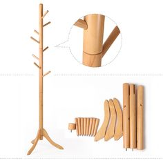 Sweet Portable Free Standing Wooden Coat Rack Design With Image Installation Design For Simple Storage For Your Hat And Coats Ideas. .