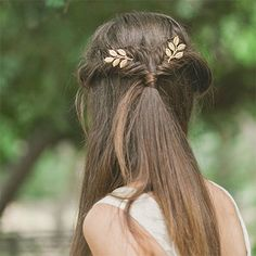 Leaf hair accessories by Echo and Laurel