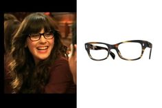 Zooey Deschanel's Glasses on 'New Girl' - Buddy Holly-inspired Oliver Peoples glasses