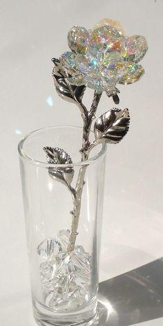 Swarovski Crystal Figurines, Swarovski Crystals, Forever Rose, Magical Jewelry, Crystal Rose, Glass Crystal, Glass Figurines, Fantasy Jewelry, Gothic Jewelry