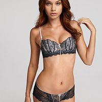 Dentelle Bra and Panty set available in sky blue and chocolate #lingerie #thebottomdrawer #ellemacpherson