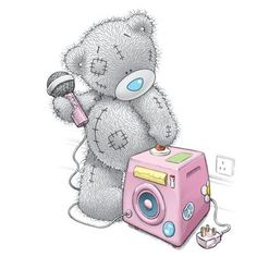 Tatty Teddy met microfoon