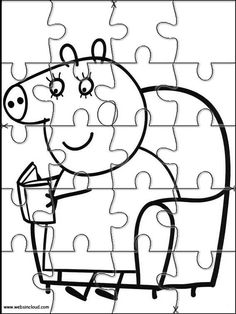 Puzzles rompecabezas recortables para imprimir Peppa Pig 3