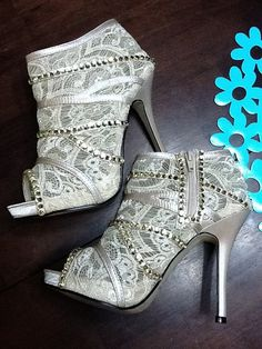 Custom made Rhinestone High Heels Wedding by ANGELESQUEstilettos, $145.00