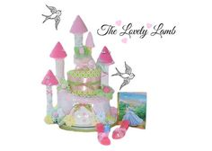 Diaper Cake Cinderella Princess Castle by LovelyLambCreations, $285.00