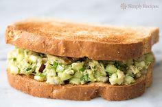 Healthy and easy! Avocado Tuna Salad with avocado, canned tuna, red onion, celery, and NO mayo.