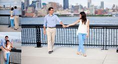Overlooking NYC! #engagementphotoideas #Hobokenengagementsession #engagementphotovenues #engagementphotoinspiration