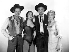 """High Noon"" Lloyd Bridges, Katy Jurado, Gary Cooper & Grace Kelly 1952...Do not forsake me, oh my darlin...."