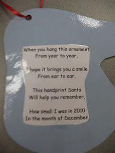 Handprint Santa back with poem