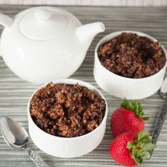 Start the day with chocolate oatmeal! This easy weekday breakfast is full of fiber thanks to steel cut oats, and made right in the slow cooker!