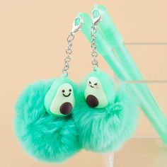 Fluffy Avocado Charm Pen Kawaii Pens, Kawaii Gifts, Tween Girl Gifts, Gifts For Girls, Japanese Pen, School Supply Store, Star Wand, Pen Shop, Cute School Supplies