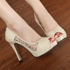 European and American high-heeled shoes Korean princess fish hea