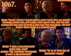 yes Spike if you do it enough times it's a relationship: The Girl In Question