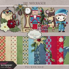 Digi Eye Scraps: The Nutcracker-Kit and glitter. Papers. *
