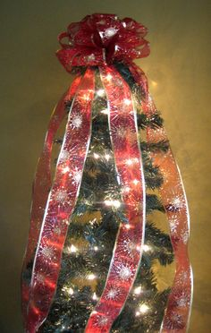 redgold christmas tree bow topper tree topper with 5 ft streamers x mas tree topper christmas tree decoration hand made bow