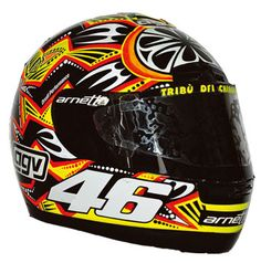 2001 - This was Valentino Rossi's helmet design for the Sepang and Rio races, the last two races of the 2001 season (Rossi had already secured the World Title by this point)