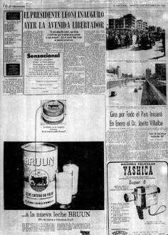 Inauguración de la Av. Libertador. Publicado el 14 de diciembre de 1965.