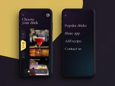 App Design, Drinks, Recipes, Drinking, Beverages, Recipies, Drink, Ripped Recipes, Application Design