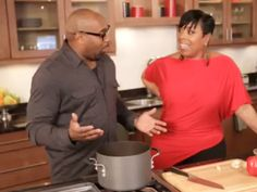 An iconic pasta dish prepared with Shirley Strawberry of the Steve Harvey Morning Show | chefgarvin.com