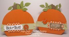 Pumpkin box using Best of Halloween August's 25 years collector set Fall Paper Crafts, Halloween Paper Crafts, Halloween Banner, Halloween Boo, Halloween Cards, Holidays Halloween, Crafts To Do, Halloween Pumpkins, Holiday Crafts