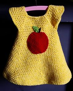 Crochet Apple Dress - Tutorial    I can figure this out, google translate here I come!