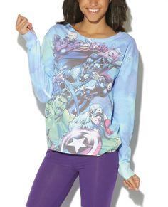 Marvel Cloud Print Sweatshirt - Wet Seal