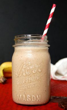 Paleo Banana Chocolate Shake- I could drink one of these every morning! Love it. #paleo