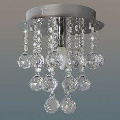 Mini Crystal Flush Mount, 1 Light, Modern Stainless Steel Electroplating - USD $ 69.99