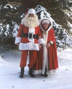 Outside with Sant and Mrs. Claus