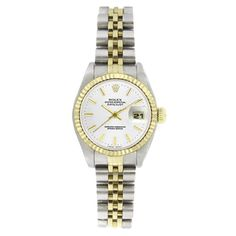 $3075. Pre-owned Rolex Women's 6917 Datejust Two-tone White Stick Watch