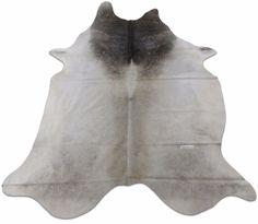 Grey Cowhide Rug Size 7.7 X 7 ft Dark Gray Neck Cow Hide Skin Rug D-792 #cowhidesusa #Contemporary