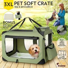 Results 1 - 24 of 146 - Petco Classic Dog Crates. You & Me Folding Dog Crate. OxGord's dog crate is available in 6 sizes – smal Cheap Dog Cages, Dog Cages For Sale, Pet Carrier Bag, Airline Pet Carrier, Puppy Supplies, Online Pet Supplies, Puppy Care, Pet Puppy, Xl Dog Cage