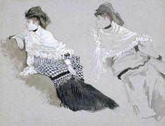 Two Studies of a Woman - James Jacques Joseph Tissot (1836-1902).