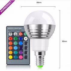 Color Magic, Stage Lighting, Led Night Light, Technology Gadgets, Remote, Bulb, Key, Geeks, Holiday