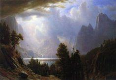 Paysage I, huile de Albert Bierstadt (1830-1902, Germany)