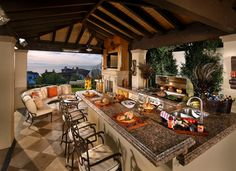 Outdoor Kitchen Design Ideas, Pictures, Remodel, and Decor - page 16