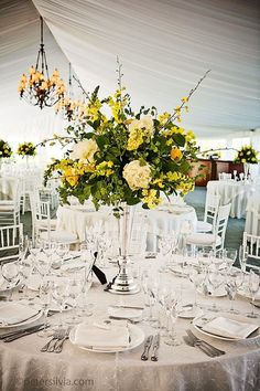 Springtime Floral Wedding Ideas Blooming with Color - Peter Silvia Photography; wedding centerpieces