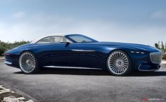 It's called the Vision Mercedes-Maybach 6 Cabriolet, and it's Mercedes-Benz's latest take on what a luxury convertible of the future might well shape up Mercedes Benz Maybach, Mercedes Auto, Pebble Beach, Maybach S600, Rolls Royce, Supercars, Convertible, Auto Motor Sport, Cabriolet