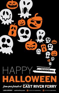 East River Ferry Halloween Poster by mcmillianfurlow, via Flickr