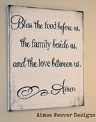 "Image of Handpainted Canvas ""Bless the Food"" 24x30"