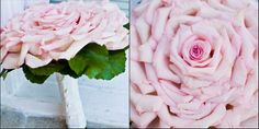 Passionate pink rose glamelia bouquet via Wedding Bee,