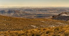 Looking down towards the town of Rock Springs in southwestern Wyoming.